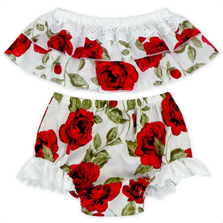 Cute Floral Baby Girl Clothes Set 2017 Summer Ruffles Skirted Off Shoulder Tops +Lace Bloomers Bottom 2PCS Outfits Children Set https://presentbaby.com #toddlerbottom