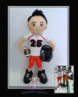 creaciones D Moni: fofucho jugador de Futball Americano fomi 3d