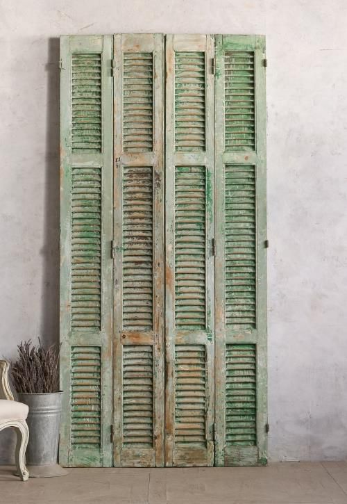Vintage Shutter Set Chipped Green - 25 Best Antique Shutters & Doors Images On Pinterest Products