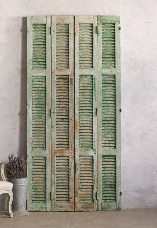 Vintage Shutter Set Chipped Green - 25 Best Antique Shutters & Doors Images On Pinterest Shutter