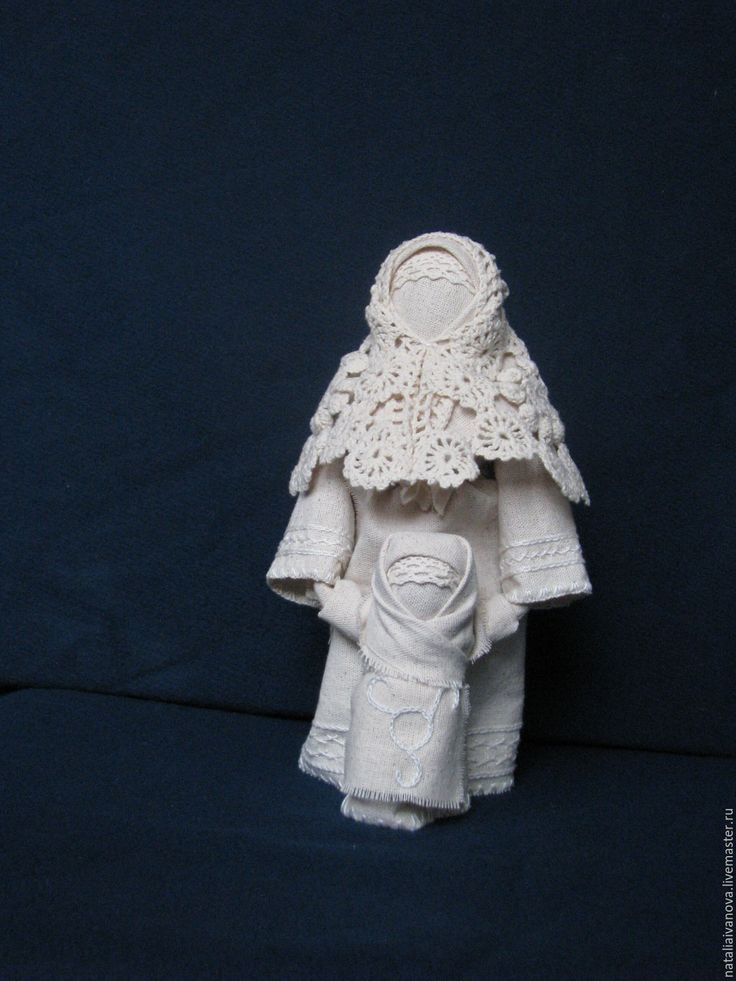 Купить Ведучка - белый, Ведучка, народная кукла, оберег, мать, мама, материнство, хлопок
