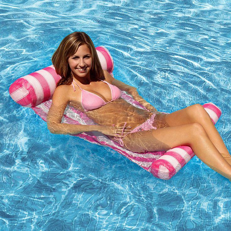 Матрасы водные виды спорта пвх надувной бассейн с морской пляж шезлонг воздуха лило поплавок кровать матрас горячая распродажа купить на AliExpress