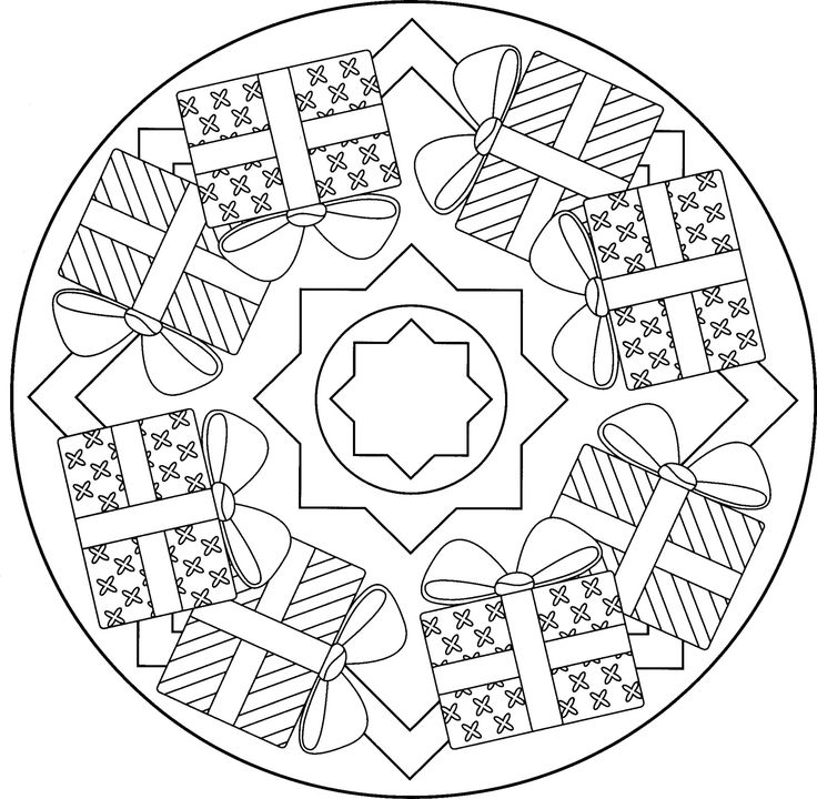 73 best Mandalas de Noël images on Pinterest | Mandalas, Children ...