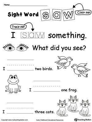 105 best Sight word images on Pinterest | Preschool, Activities and ...