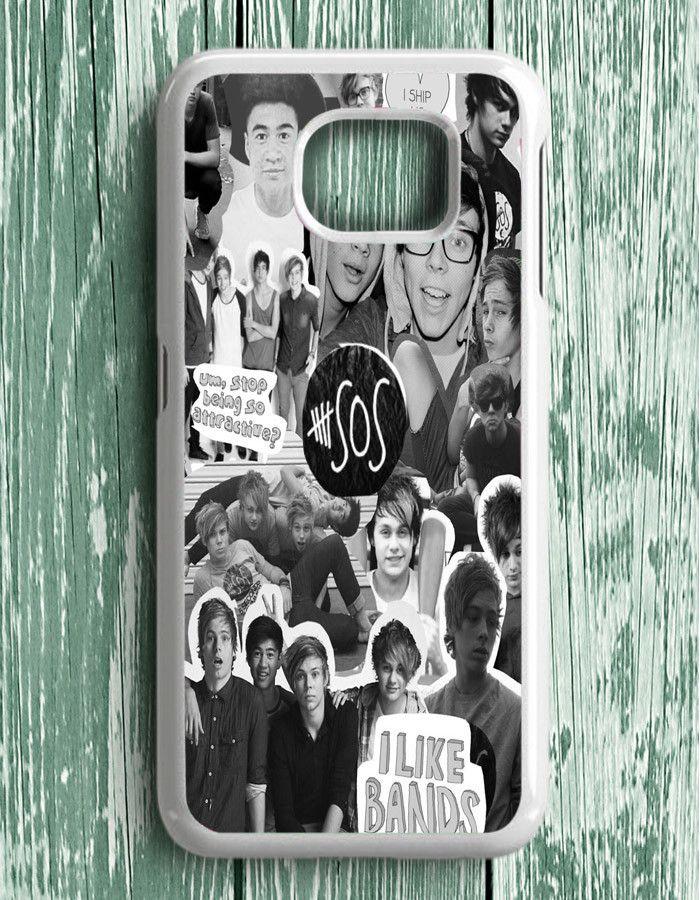 5 Second Of Summer Collage 5 SOS Art Music Samsung Galaxy S6 Edge Plus   Samsung S6 Edge Plus Case