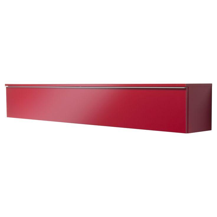 BESTÅ BURS Wall shelf - high-gloss red - IKEA