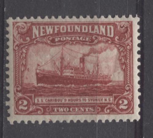 Newfoundland #146 2c Dp Car Red 1928 Publicity Comb Perf. 13.5 x 12.75 VF-75 OG…