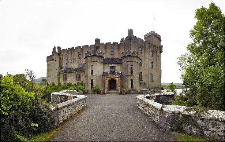 Dunvegan Castle, main entrance, Isle of Skye, Scotland,The MacLeod ( McLeod) clan castle