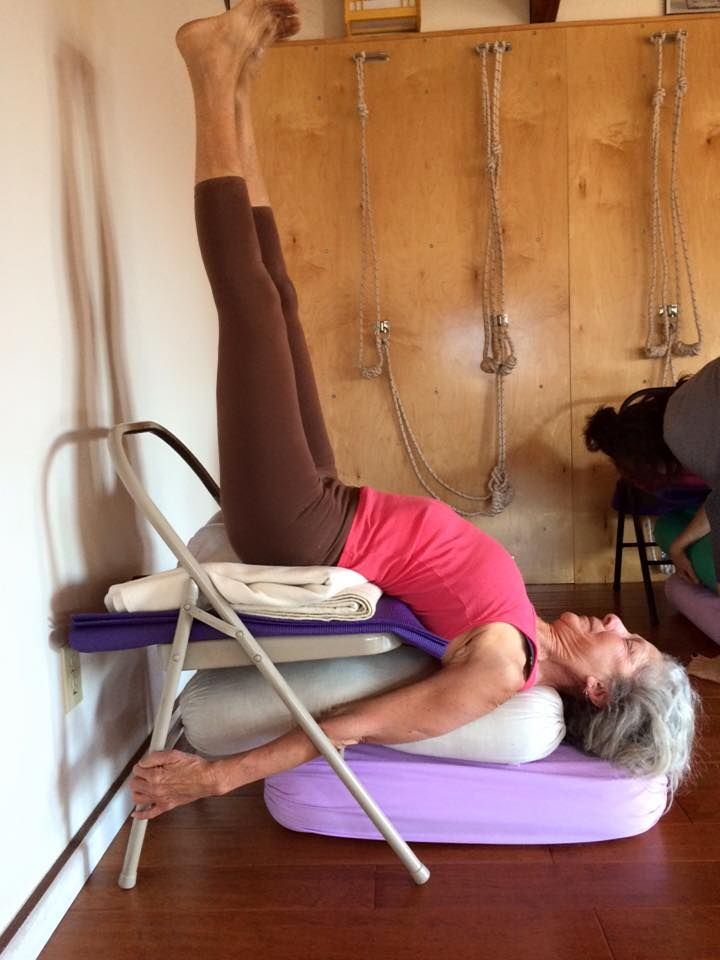 53 best iyengar yoga chair inversions images on pinterest for Furniture yoga