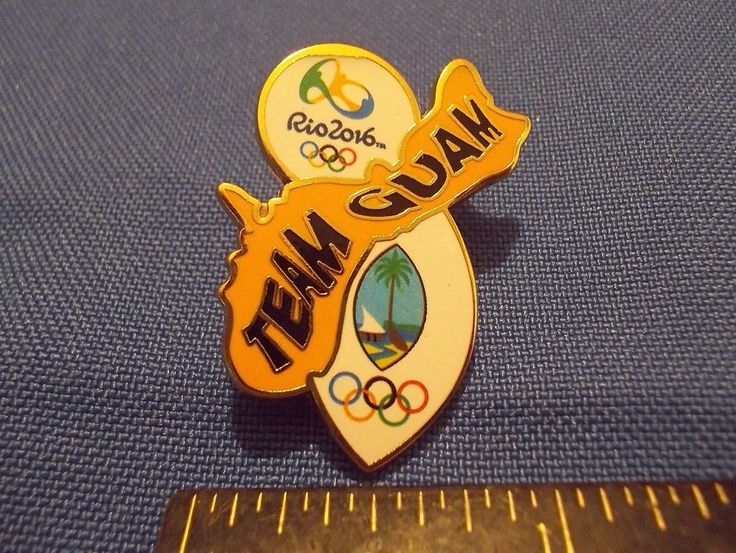 2016 Rio Olympic NOC Pin Guam Dated