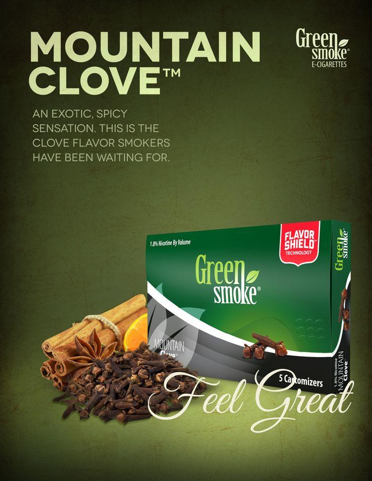 Mountain Clove: Mountain Clove™ -patruunan maku on eksoottinen ja se sisältää luonnollisen mausteneilikan ja tupakan uutetta. Se on tulinen. Se on makea.