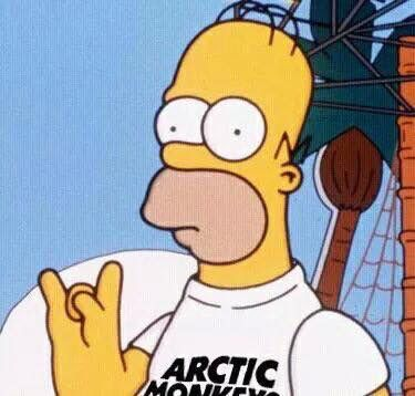 Simpsons. Arctic Monkeys