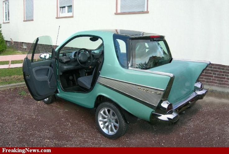 '57 Chevy body kit for a Smart Car.