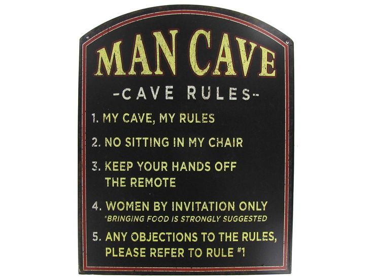 Woman Cave Signs For Garage : Man cave rules google search wall art pinterest