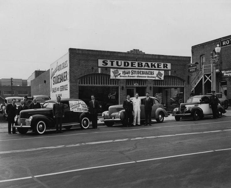 studebaker dealership 1940 vintage automobile photos pinterest vintage used cars and cars. Black Bedroom Furniture Sets. Home Design Ideas