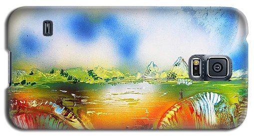 Rainbowland Galaxy S5 Case Printed with Fine Art spray painting image Rainbowland by Nandor Molnar (When you visit the Shop, change the orientation, background color and image size as you wish)