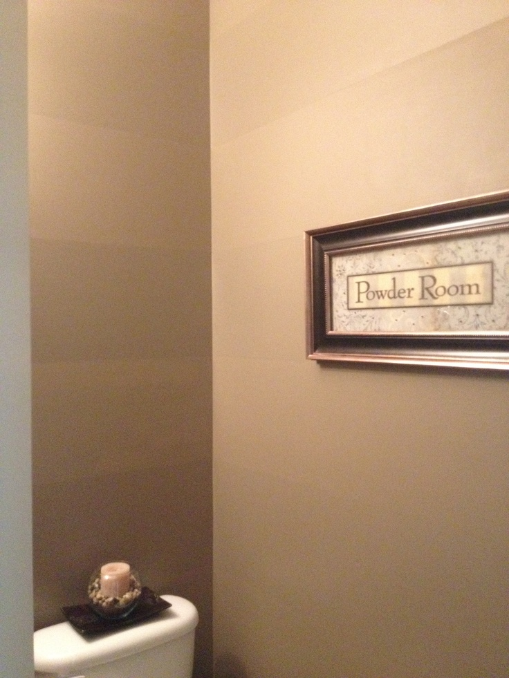 Bathroom Stripes - painted using matte and satin paint for a subtle difference!