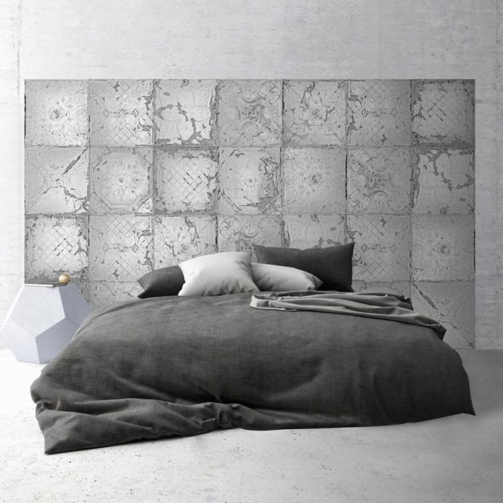 Interior Design Tete De Lit Tete Lit Adhesive Plaques Victoriennes Tin Tiles Tete Adhesive Noir Et Blanc Table Snack Pou Headboard Adhesive Headboard Tin Tiles
