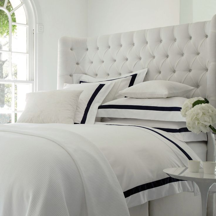 Made exclusively for us in Italy, home of the world's finest bed linen, from luxurious 300-thread-count, Egyptian-cotton sateen, Montebello feels gorgeously smooth, soft and silky against your skin, drapes beautifully, and has an elegant sheen.  100% cotton.