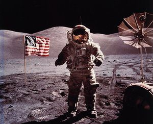 A set of pictures from US space programme, including the first moon landing images, could fetch up to £20,000 at a New York auction next month