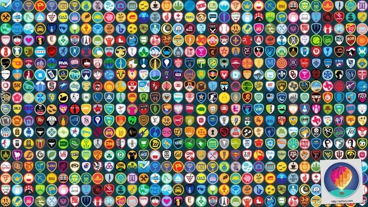foursquare wallpaper badges