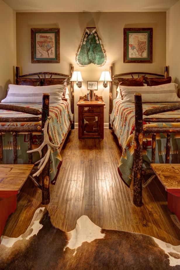 See How This Lodge Style Bedroom Blends Rustic And Southwestern Styles On Hgtv Com