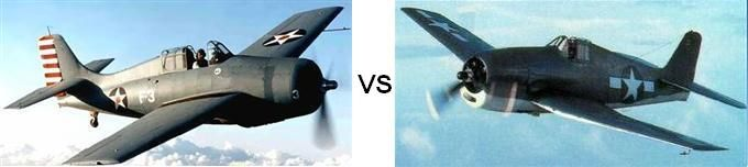 A visual guide on how to tell apart the Grumman F4F Wildcat from the Grumman F6F Hellcat.