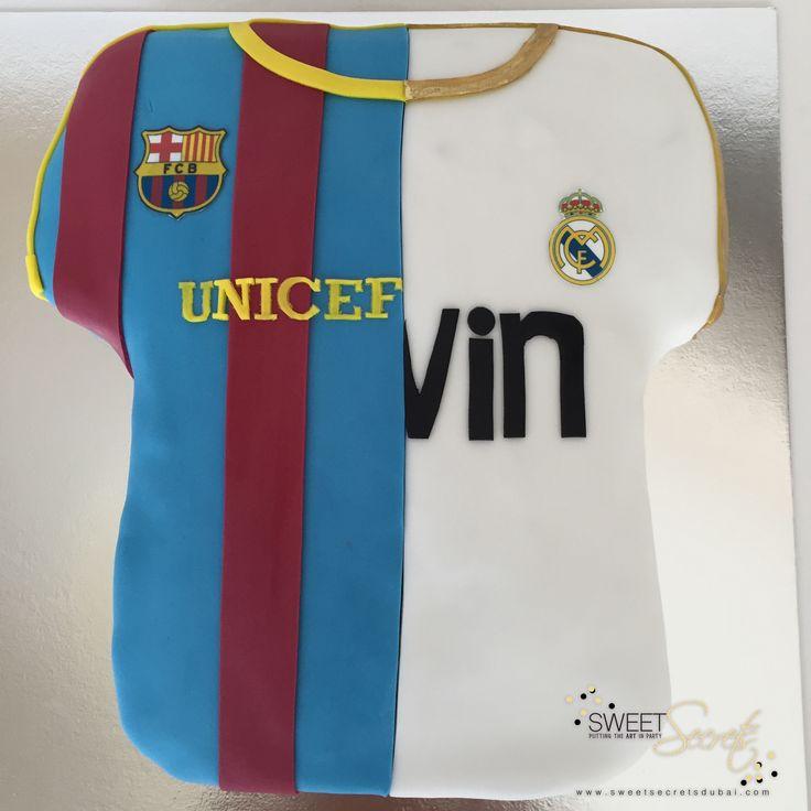 football jersey. Sweet Secrets, Novelty Cakes Dubai. www.sweetsecretsdubai.com