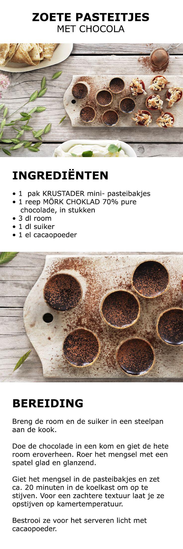 Inspiratie voor Midsommar - Zoete pasteitjes met chocola   #koken #keuken…