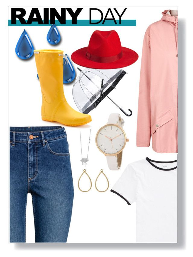 """Yellow Wellys"" by lexie-etherington ❤ liked on Polyvore featuring H&M, Vans, Fulton, Rains, Pandora and Tretorn"