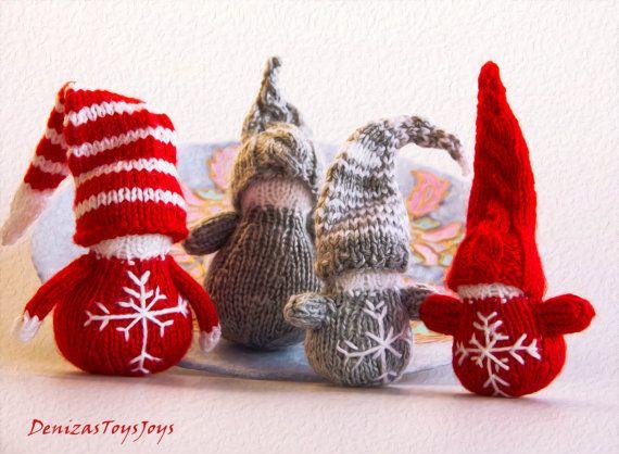 Christmas Gnome Knitting Pattern : Waldorf Christmas Gnomes pdf knitting patterns. by deniza17 Christmas and N...