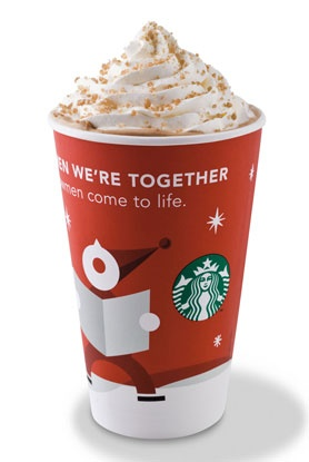 The best seasonal beverage! Toffee Nut Latte with whipped cream on top!!! *melting*
