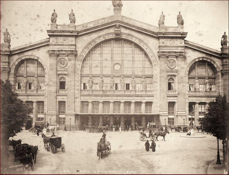 La Gare du Nord et sa façade impressionnante, vers 1880 (Paris 10ème)