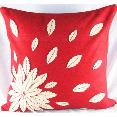 You'll love the Felt Applique Flower Felt Throw Pillow at Wayfair - Great Deals on all Décor products with Free Shipping on most stuff, even the big stuff.