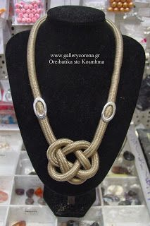 Gallery Corona: Κολιέ με ορειβατικό κορδόνι ναυτικός www.art-tarkasis.gr κόμπος (elefa...