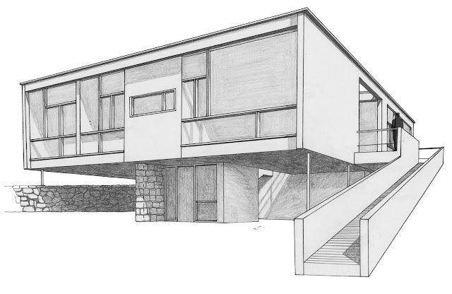La forma moderna en latinoam rica casa seidler sidney for Modern house 2 point perspective