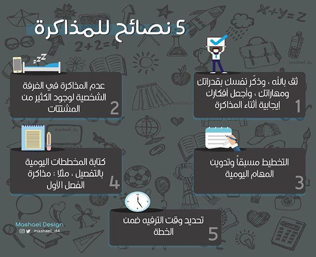 انفوجرافيك نصائح مذاكره اختبارات تصميم تصاميم Design Infographic Infographics Book Logo Positive Notes Background Powerpoint