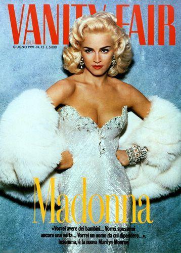 Madonna - Vanity Fair Magazine [Italy] (1991) Heerlijke over de top glamour foto. Alles geinspireert op Marilyn Monroe vind ik prachtig. Het heeft iets onbereikbaars en dat is een van de krachten van fashion.