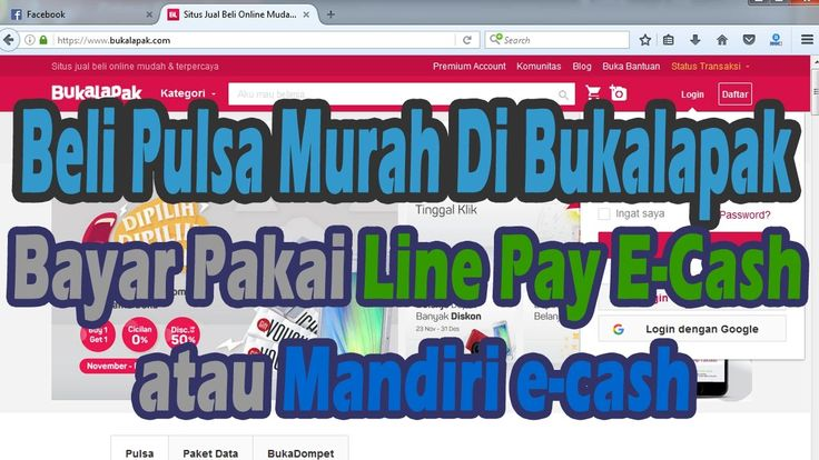 Cara Beli Pulsa Isi Ulang di BukaLapak Bayar Pakai Line Pay E- cash