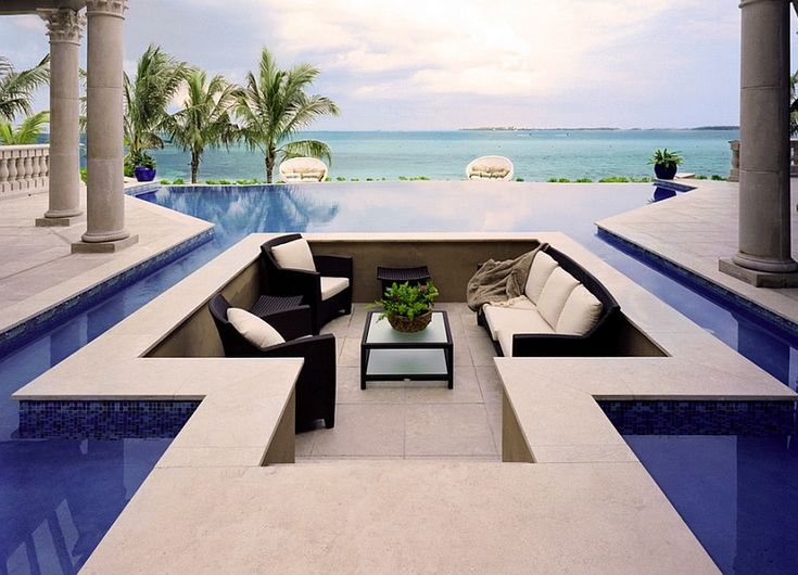 1 Breathtaking Conversation Pit Surrounded By The Pool