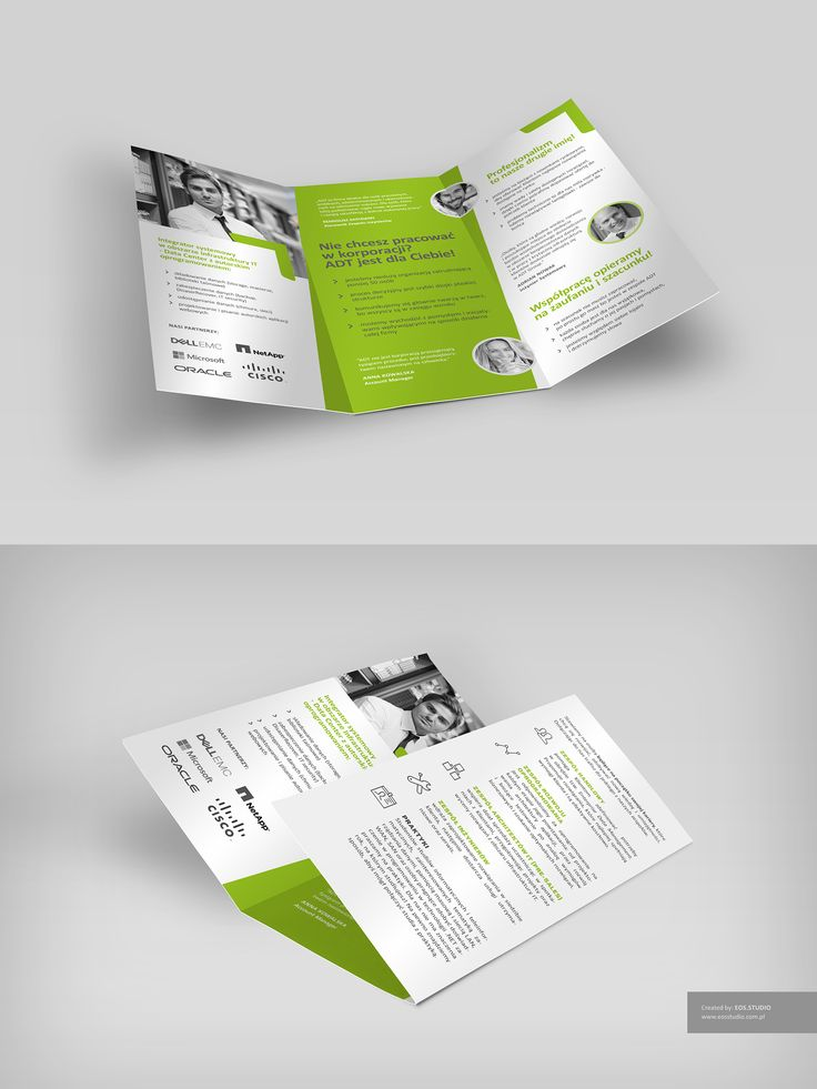 trifold layout for ADT GROUP (Poland)