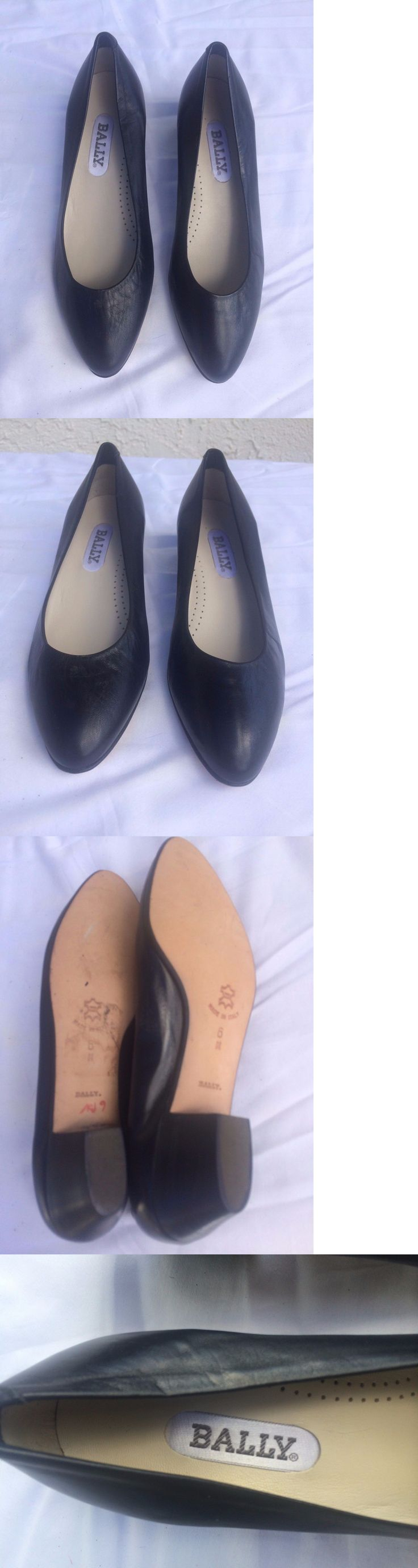Women Shoes: Bally Black Leather Shoes Ballet Pumps New Womens Sz 6M BUY IT NOW ONLY: $39.99