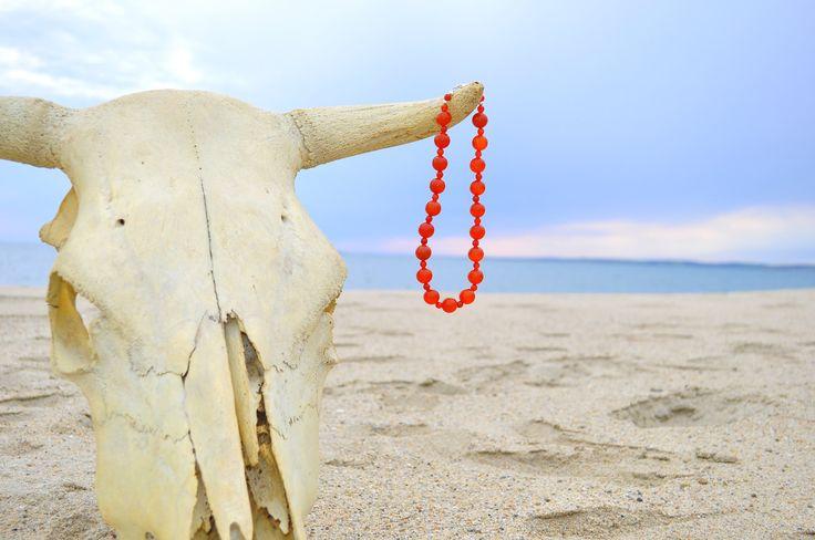 carnelian necklace 925 silver closure collana in corniola con gancio in argento 925 di Oxidex su Etsy