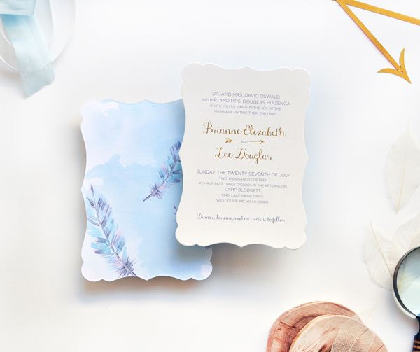 Eclectic-Watercolor-Feather-Gold-Foil-Wedding-Invitations-Smitten-on-Paper-OSBP8