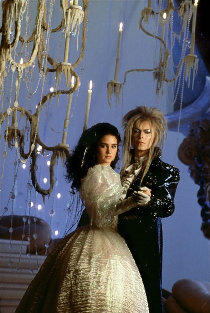 David Bowie age 40 and Jennifer Connolly age 15!!! The Lanyrinth, one of my daughter's favorite movies.  Good taste, I'd say.