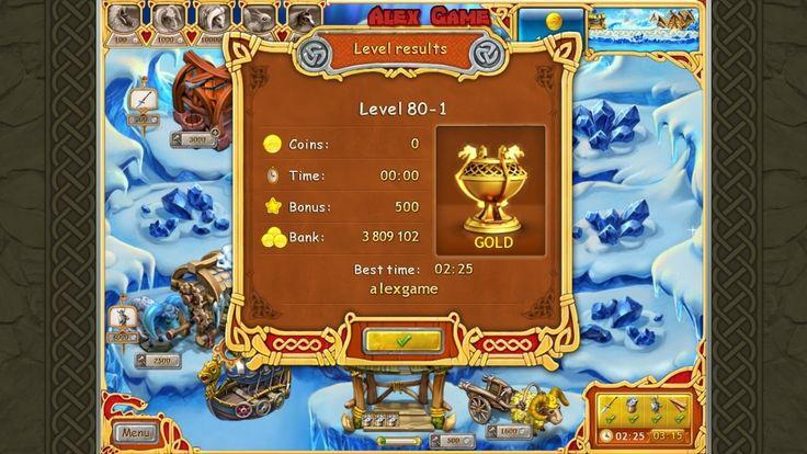 Farm Frenzy Viking Heroes Standart Level 80-1 GOLD Веселая ферма Викинги Стандарт Уровень 80-1