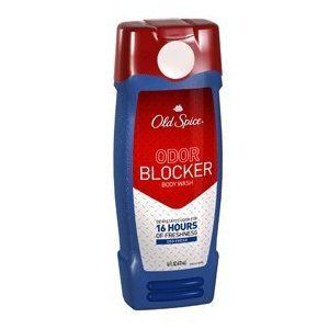 Old Spice Odor Blocker Body Wash, Deo Fresh, 16 oz. by Old Spice. $9.99. Old Spice Odor Block Body Wash Fresh. Devastates odor for 16 hours of freshness. Odor Blocker. You will win. Odor will lose. Guaranteed. In the shower, it banishes odor causing germs to the drain. It spends the rest of the day maiming pesky, yet unavoidable odor causing elements in sweat. After the carnage, all that remains is the fresh smell of victory.