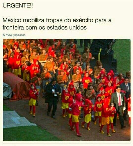 URGENTE!!! México mobiliza tropas do exército para a fronteira dos EUA