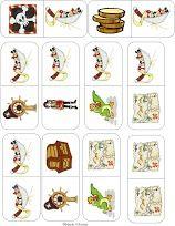 Piraten domino, pirates game, free printable 4
