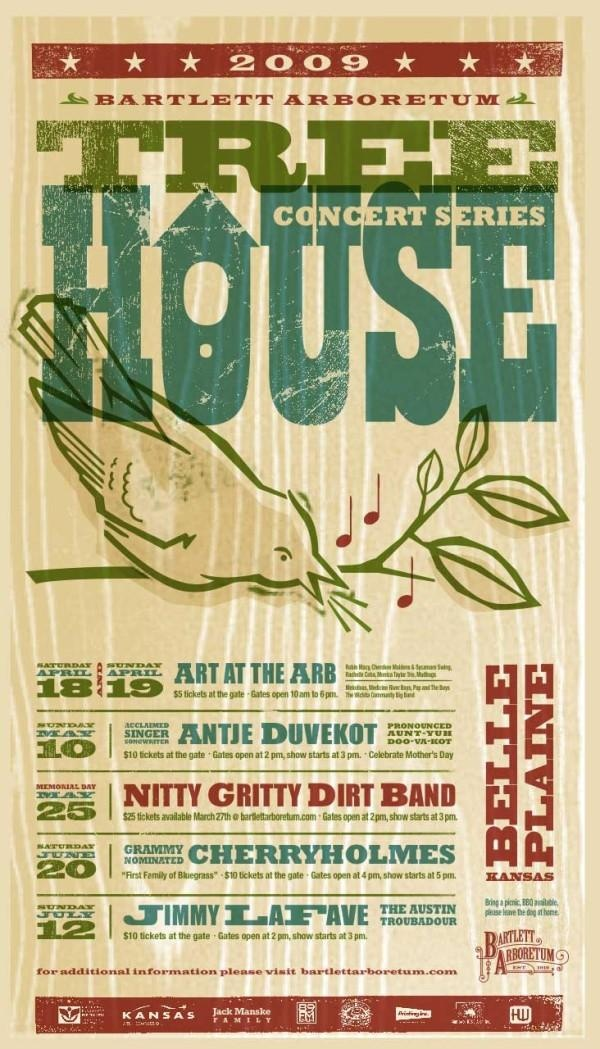 I love these posters.  Tree House Concert Series 2009.  We share a name!! @howertonwhite.com